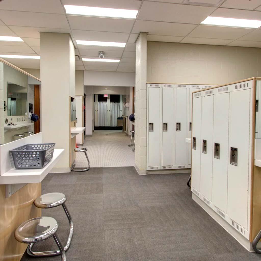 Change room in YMCA of Owen Sound Grey Bruce