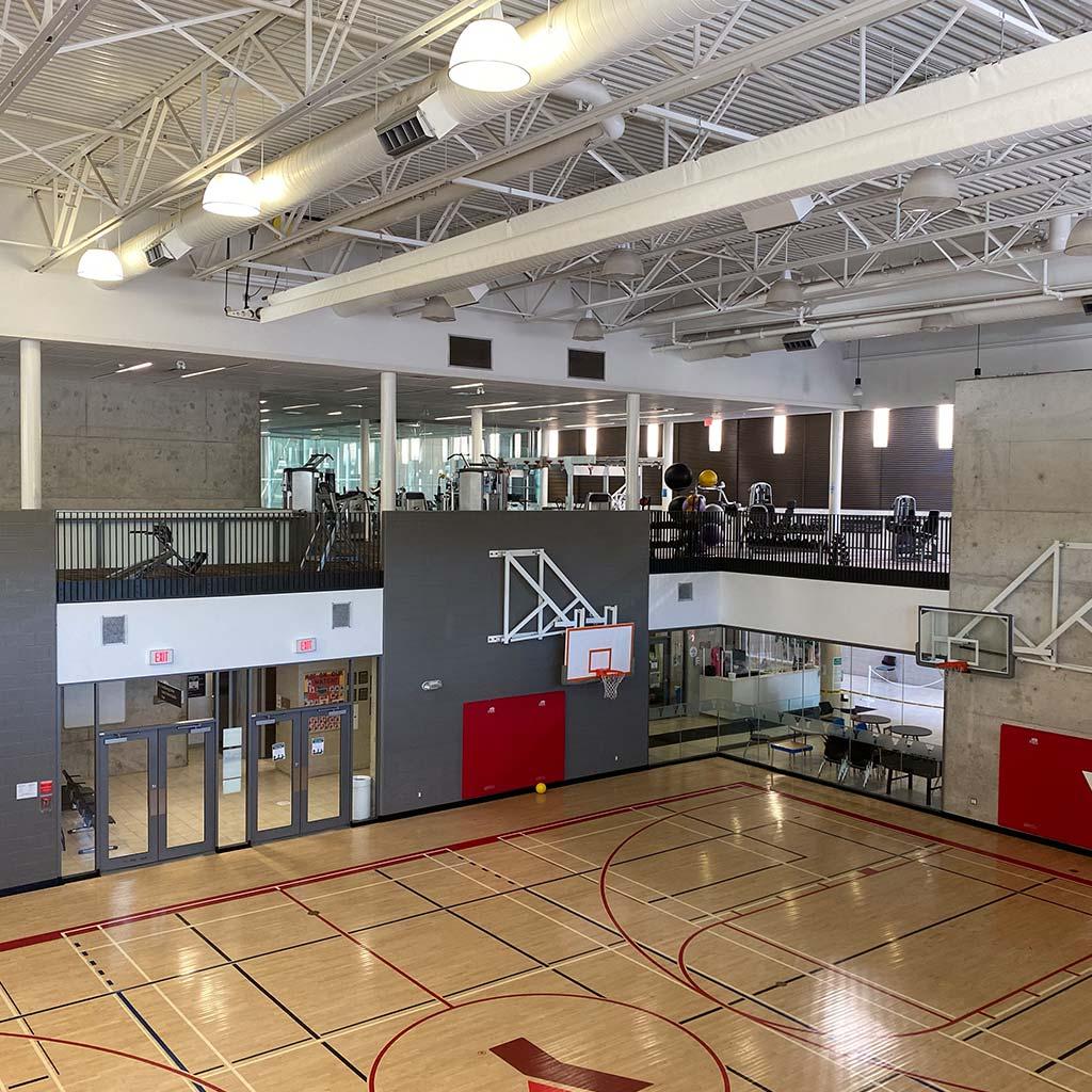 Gymnasium in YMCA of Owen Sound Grey Bruce Health, Fitness & Aquatics facility