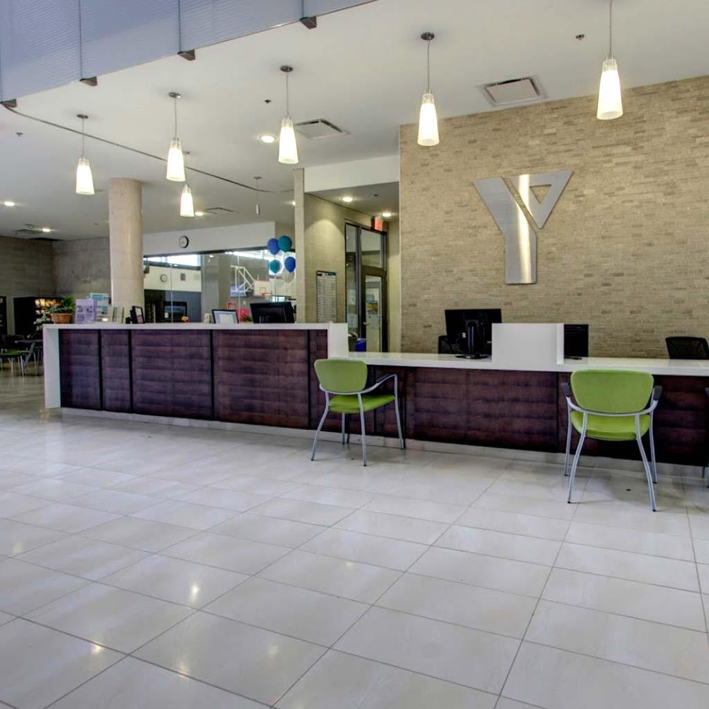 Welcome Desk in YMCA of Owen Sound Grey Bruce Health, Fitness & Aquatics facility