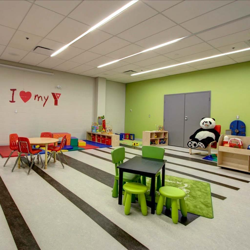Program room in YMCA of Owen Sound Grey Bruce Health, Fitness & Aquatics facility