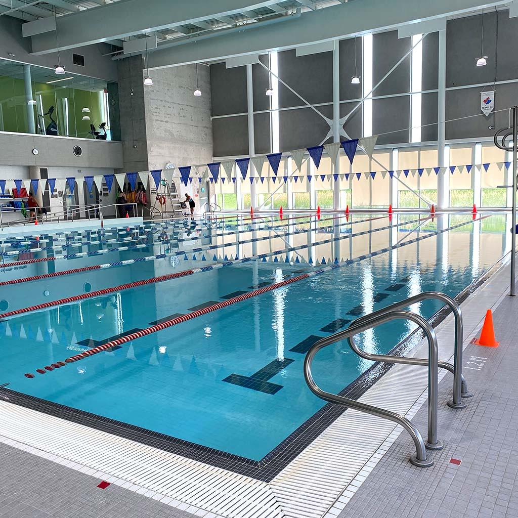 Lane pool in YMCA of Owen Sound Grey Bruce Health, Fitness & Aquatics facility