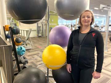 Personal Trainer Tasha Caesar at the YMCA of Owen Sound Grey Bruce