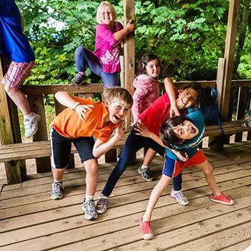 Camp Presqu'ile kids being silly