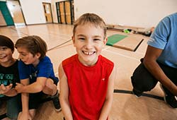 Young boy at day camp