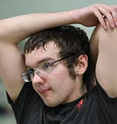 Young man at the YMCA