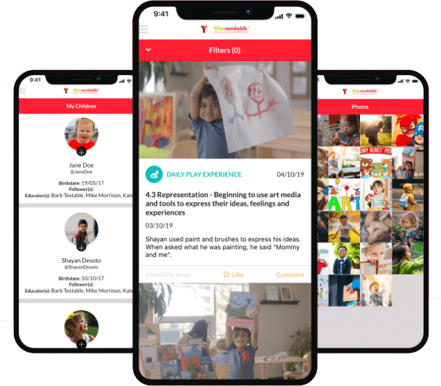 YMCA Weemarkable app images